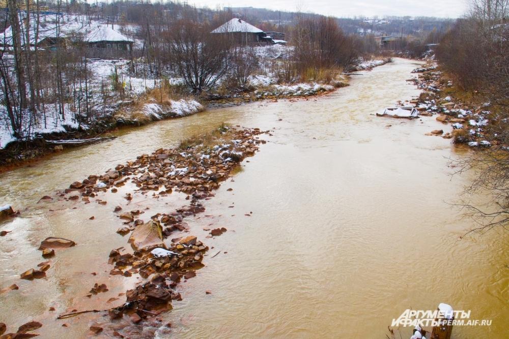 Оранжевая река Кизел.