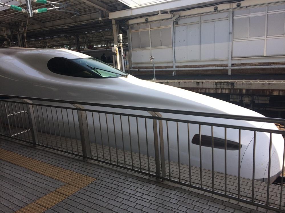Скоростной поезд синкансен.
