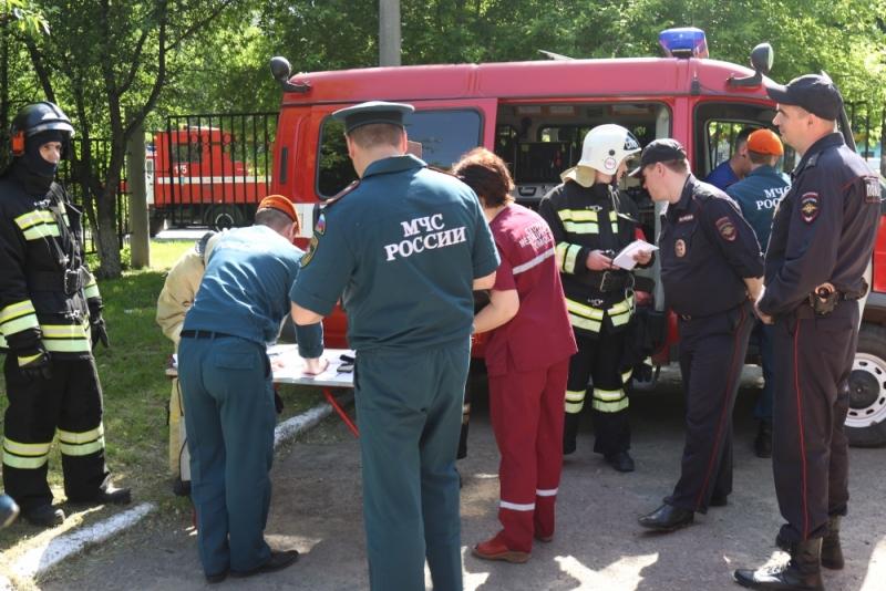 Условный пожар в поликлинике Барнаула