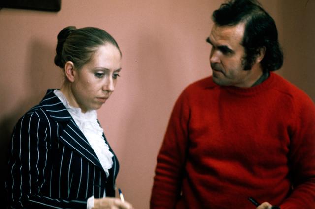 Инна Чурикова и Глеб Панфилов на съемках фильма «Прошу слова». 1975 г.