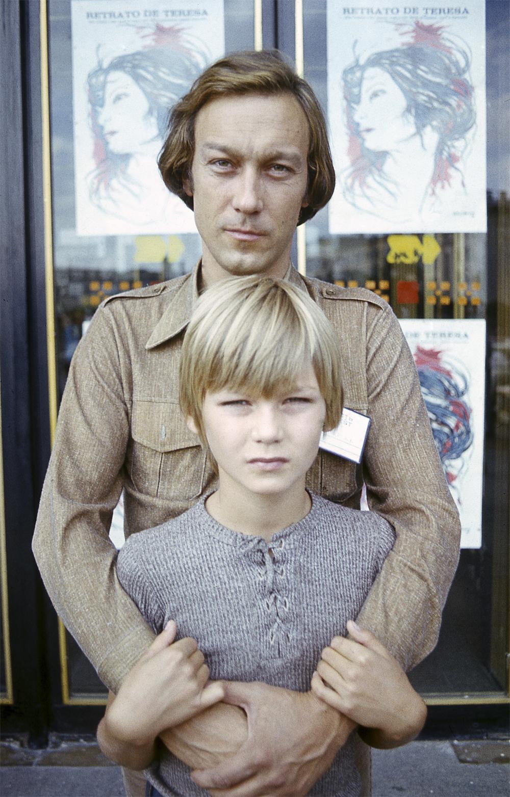 Олег Янковский с сыном Филиппом. 1979 г.