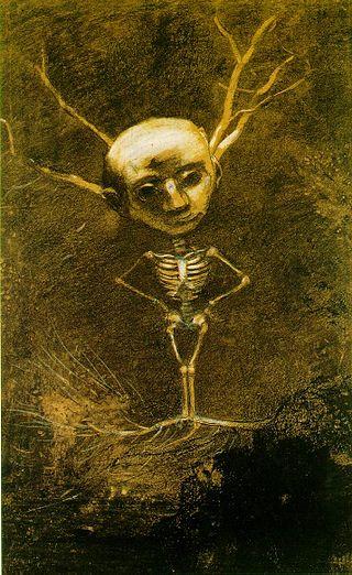 Одилон Редон. Рисунок Дух леса