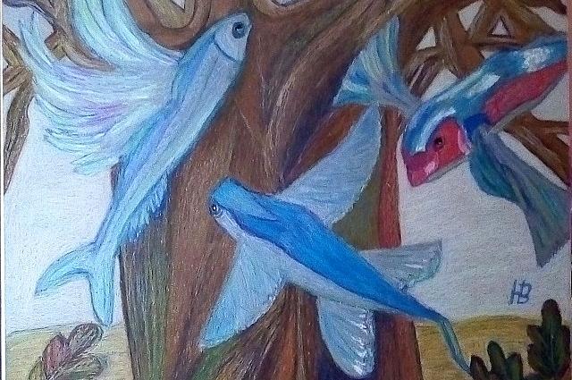 Живопись у Волковой необычная - это наив и символизм, которые сегодня очень популярны.