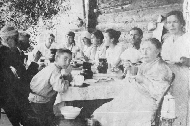 Большая семья Герасимовых.