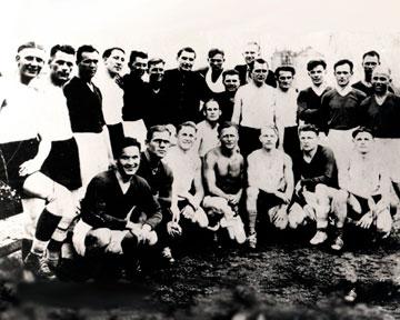 Участники «матча смерти» в 1942 году в Киеве