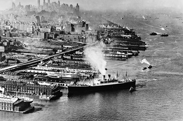 Порт Гамбурга, 1930-е годы