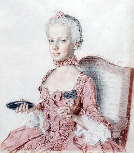 Мария-Антуанетта в девичестве. Портрет кисти Лиотара