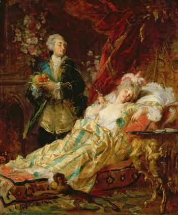 «Людовик XV и дю Барри». Дьюла Бенцур, 1874