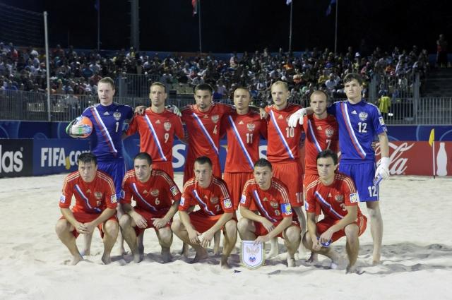 Сборная команда России по пляжному футболу на чемпионате по пляжному футболу 2013