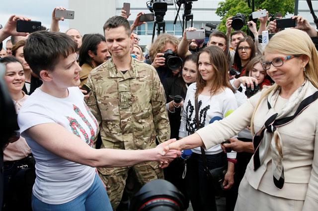 Надежда Савченко и Юлия Тимошенко.
