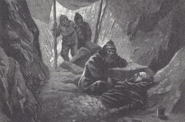 Смерть Витуса Беринга. Рисунок 1898 года.
