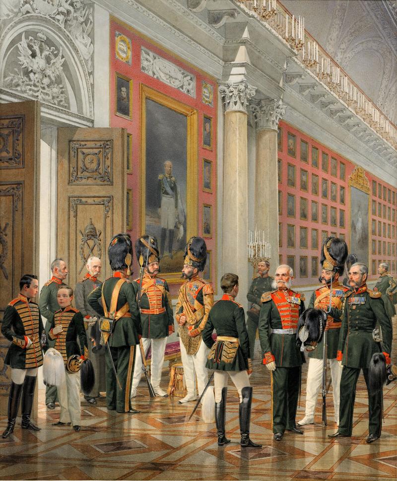 Подробнее К. К. Пиратский, Придворные и военные в портретной галерее 1812 года в Зимнем дворце, 1861 г.