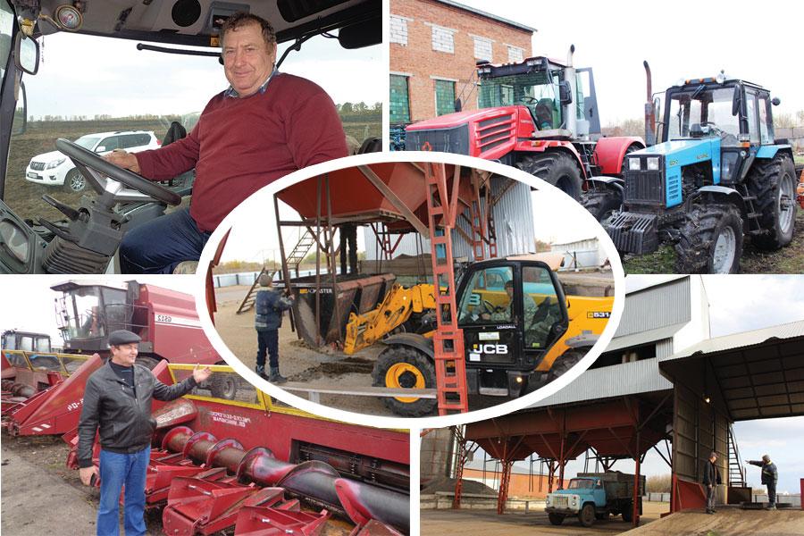 Труды и заботы фермеров: урожай убран, хранилища заполнены, готовь технику к следующему сезону.