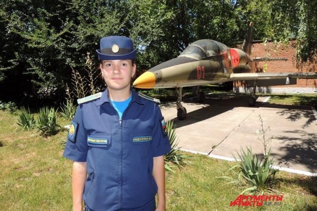Курсантка Валерия Абдуллина из Белгорода.