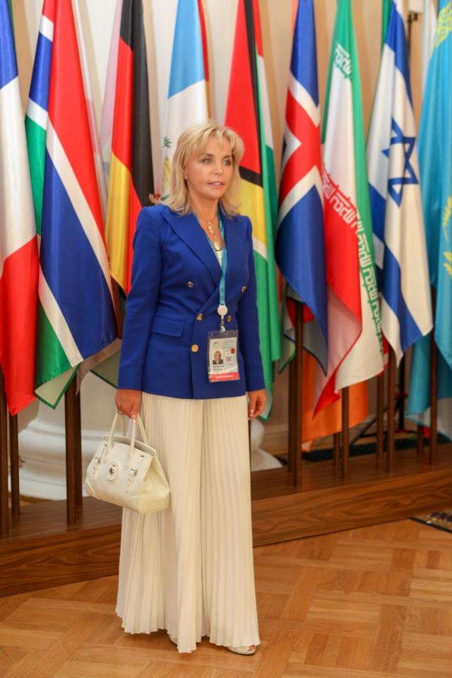 Екатерина Диброва на Евразийском Женском форуме.