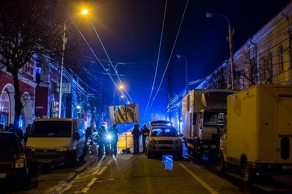 Некоторые улицы в Калуге полностью перекрывались на время съёмок.