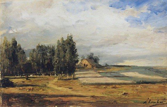 Имение А.П. Боголюбова. Холст, Масло, 1870 г