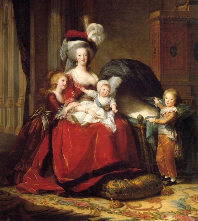 Портрет Марии-Антуанетты с детьми