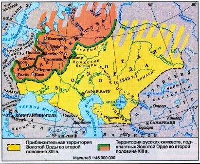 золотая орда карта
