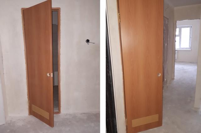 Квартиры первого подъезда уже оборудованы новыми дверями.