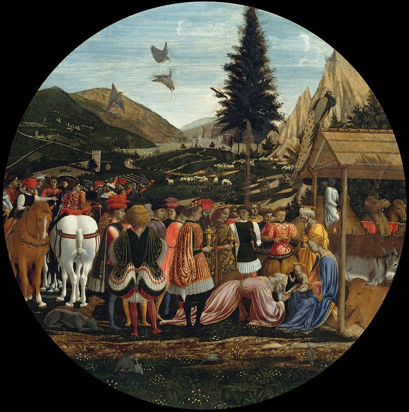 Доменико Венециано. Поклонение волхвов.