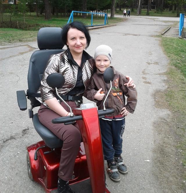 Татьяна Рябкова с сыном Артемом.