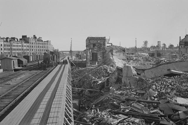 Выборг после захвата финнами в 1941 году.