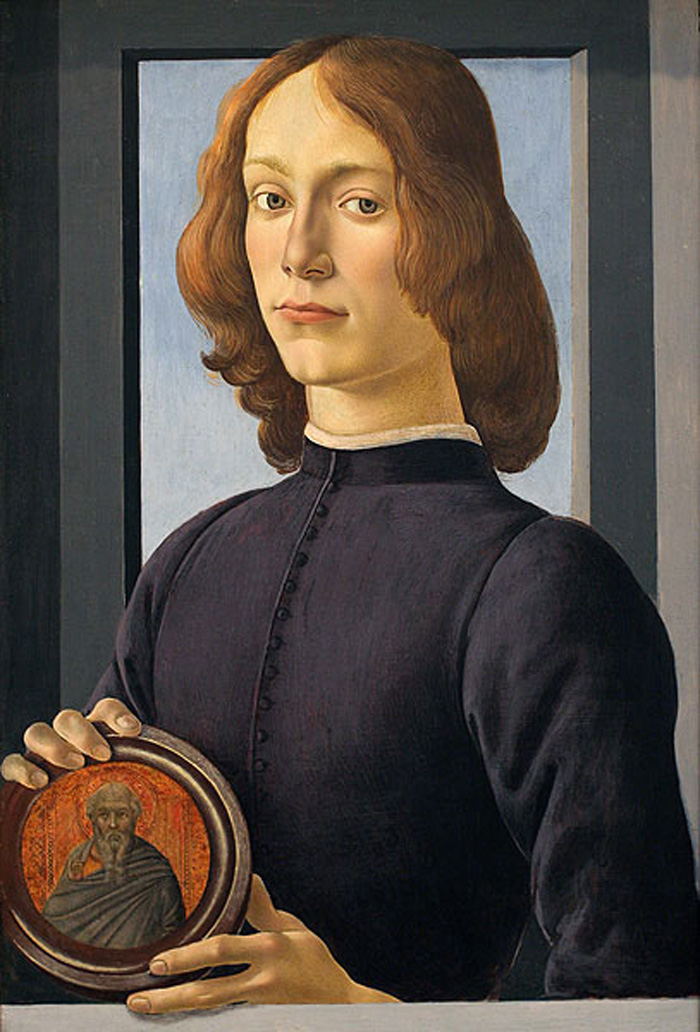 Сандро Боттичелли, «Портрет молодого человека с медальоном»