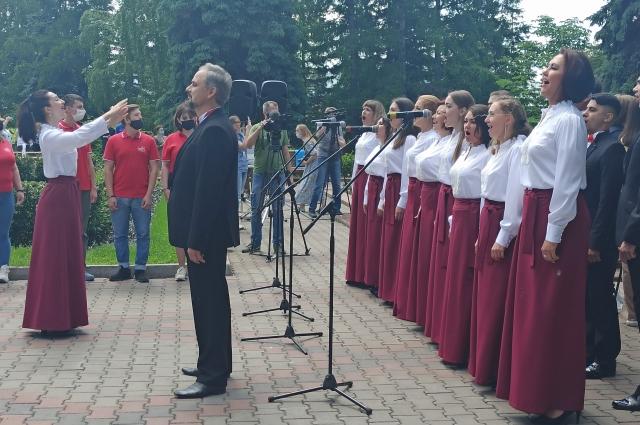 На празднике прозвучал гимн Красноярска