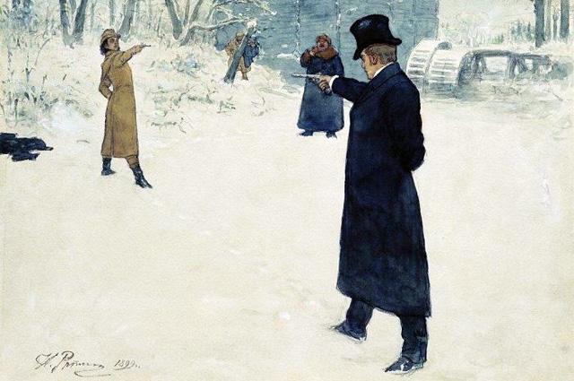 Илья Репин «Дуэль Онегина и Ленского», 1899 г.
