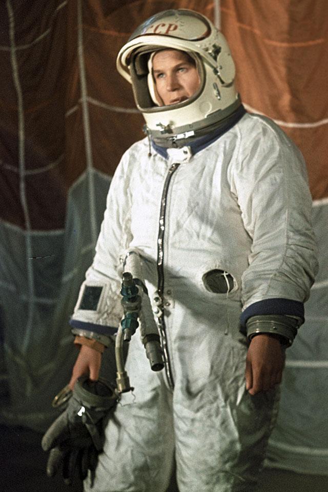Валентина Терешкова в период подготовки к космическому полету.