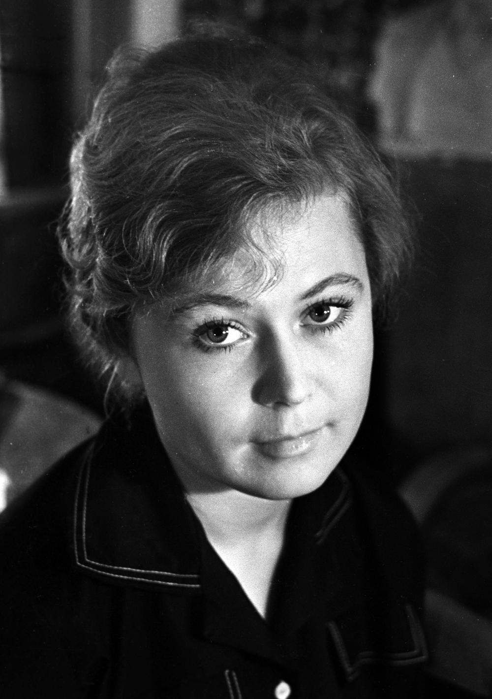 Светлана Немоляева в Московском театре имени Владимира Маяковского. 1960 г.