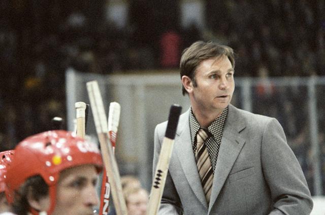 Старший тренер команды ЦСКА и сборной команды СССР по хоккею Виктор Тихонов, 1979 г