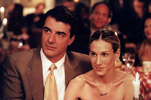 Крис Нот и Сара Джессика Паркер в сериале Секс в большом городе . 1998 год