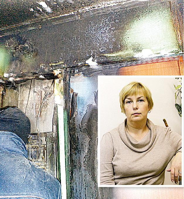 Пожар начался в подъезде и перекинулся в квартиру Ирины Паниной.