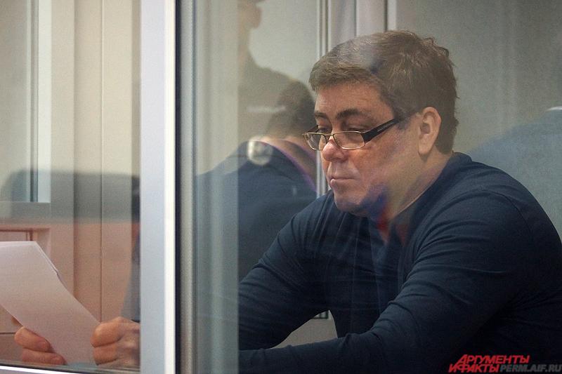 Петр Пьянков в зале суда.