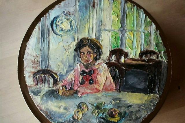 «Девочка с персиками» Серова на торте очень близка к оригиналу.