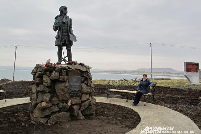 Памятник Витусу Берингу.