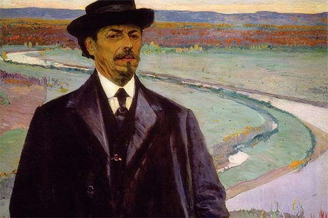 Михаил Нестеров, автопортрет, 1915 год.