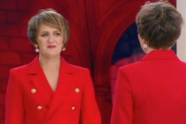 Образ в красном платье стал самым эффектным