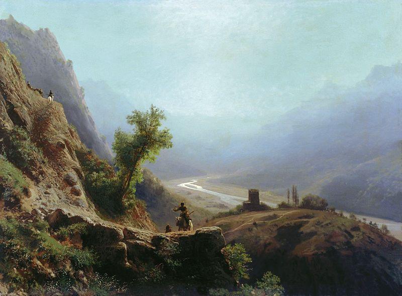 Лев Лагорио. В горах Кавказа