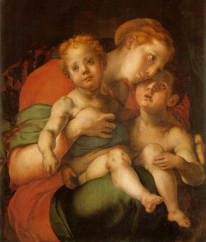 Понтормо (Якопо Каруччи). Богородица с Младенцем Иисусом и  Иоанном Крестителем.