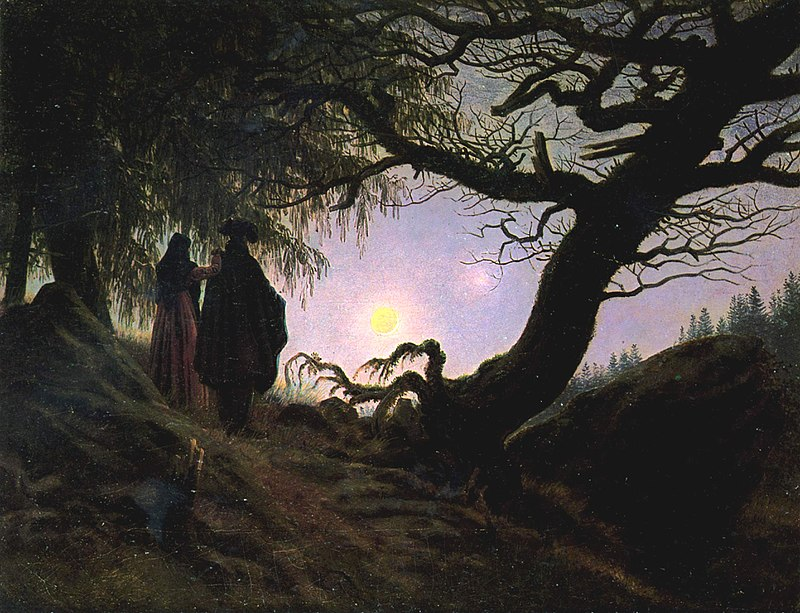 Каспар Давид Фридрих. Мужчина и женщина, созерцающие Луну.
