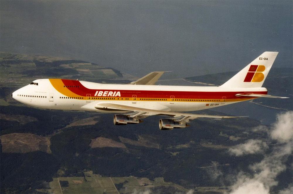 Boeing 747-200B.