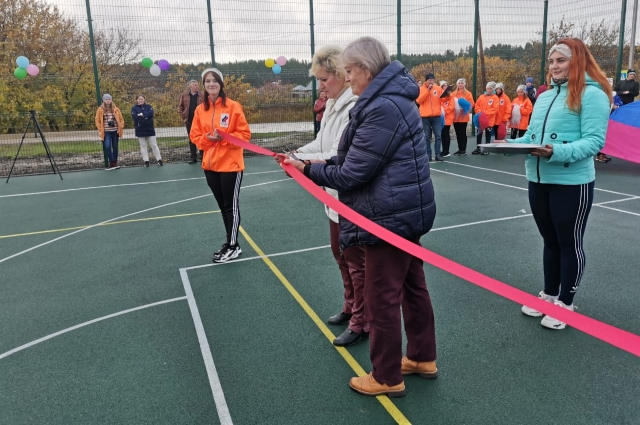 Открытие спортивной площадки в селе Зайцево.
