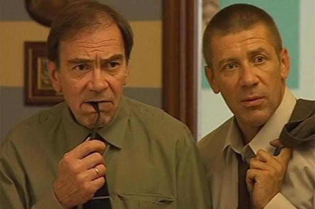 С Андреем Краско в фильме «Агент национальной безопасности-1», 1998-1999 гг.