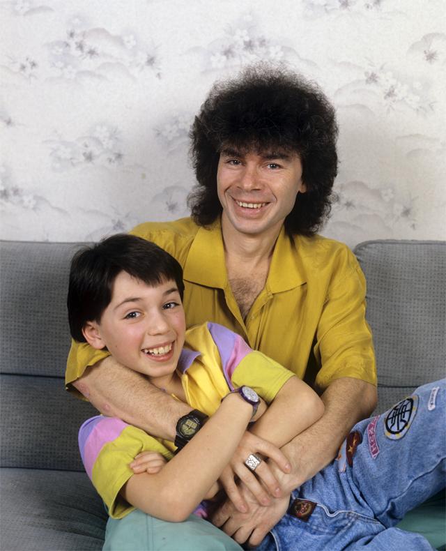 Олег Газманов с сыном Родионом. 1989 г.