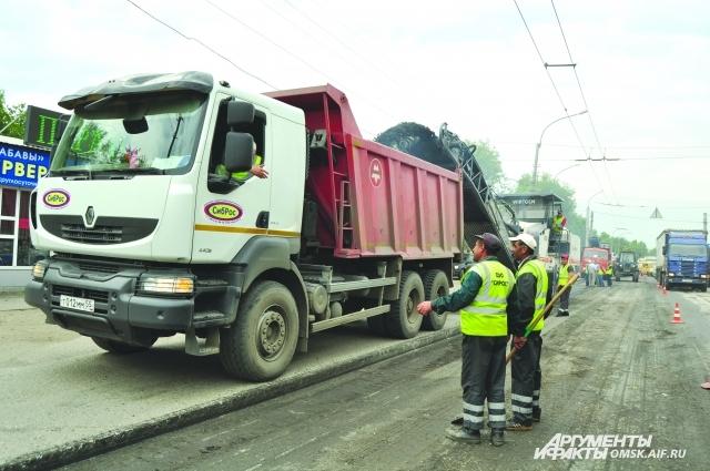 В городе развернули масштабный ремонт основных магистралей.