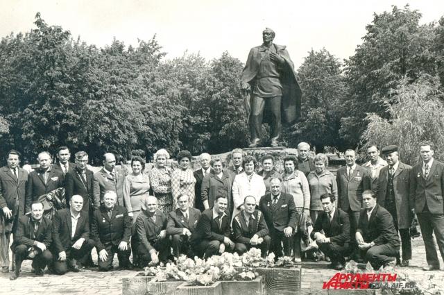 Тульская делегация ветеранов, Город-герой Минск, 1976 г