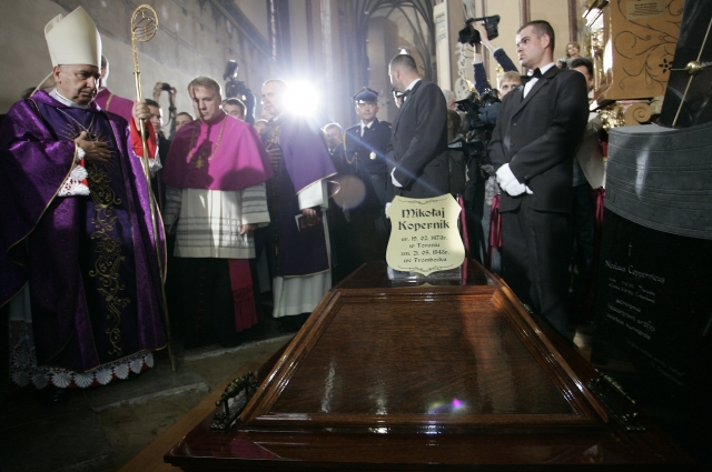 Перезахоронение останков Коперника